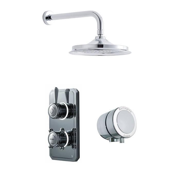 Душевая система Digital на 2 выпуска для ванны и настенного душа 304мм TK4L