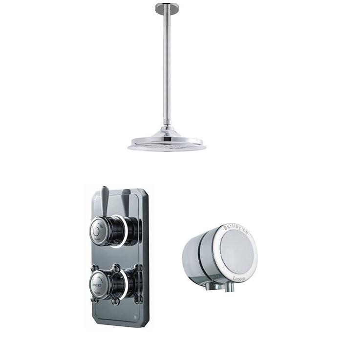 Душевая система Digital на 2 выпуска для ванны и потолочного душа 228мм TK4CM