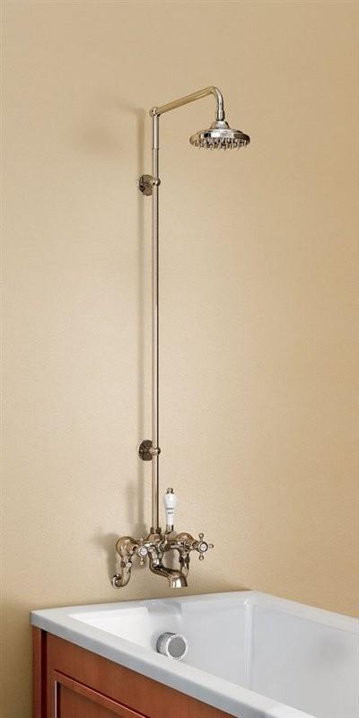 Душевая стойка со смесителем, верхняя лейка 152,4 мм