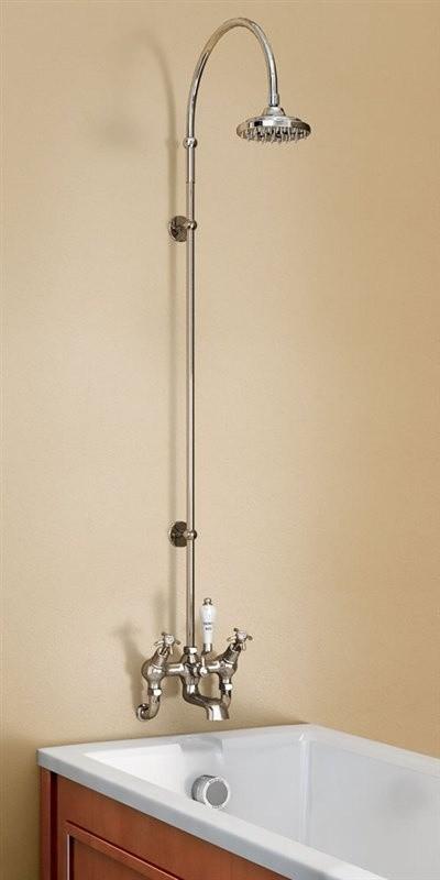 """Душевая стойка со смесителем """"под наклоном"""", верхняя лейка 152,4 мм"""