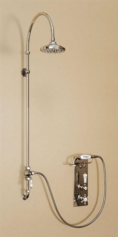 Душевая стойка с встроенным термостатом на 1 выпуск, верхняя лейка 152,4 см