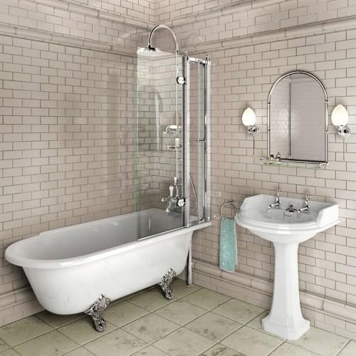 Шторка для ванны с открывающейся панелью