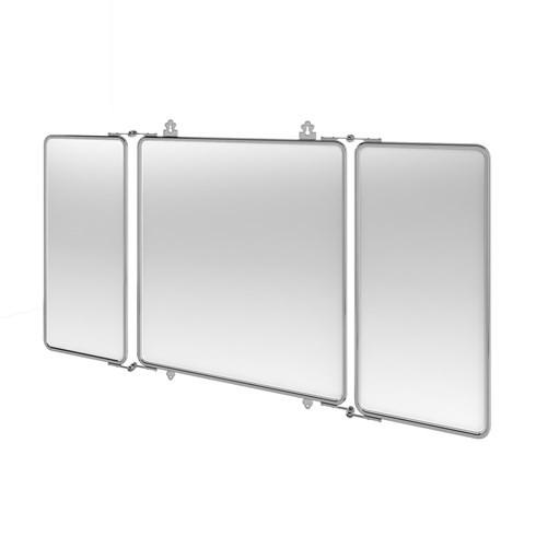 Зеркало Arcade настенное из трех сегментов, хром
