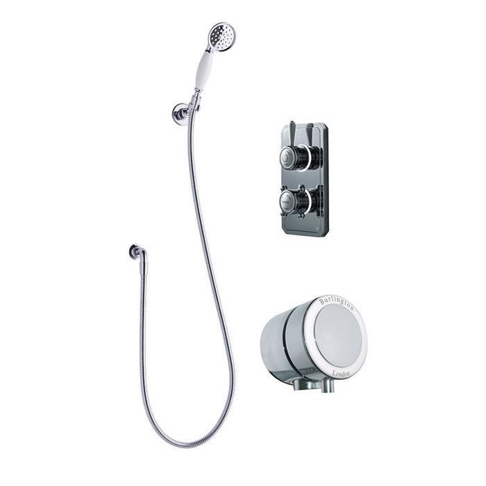 Душевая система Digital на 2 выпуска с ручным душем и наливом для ванны TK4H