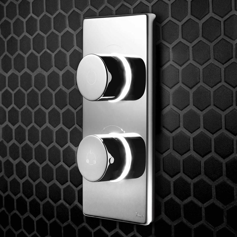 Цифровой термостат Digital Contemporary на 2 выпуска душ-душ CK12
